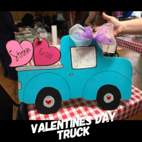 Valentines Day Truck / Jenna Sue Font ($35 Adult Shape)