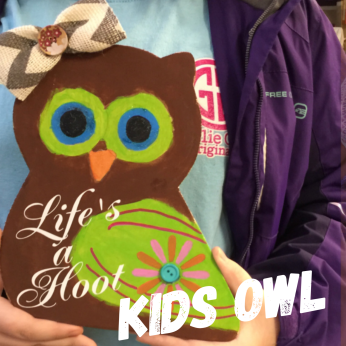Kids Owl / Majestic Font ($15 Kids Shape)