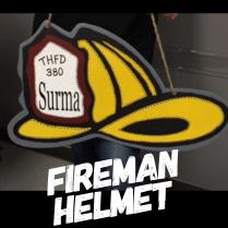 Fireman Helmet /High Tower Font ($35 Adult Shape)