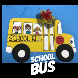 School Bus / Apple Butter Font ($35 Adult Shape)