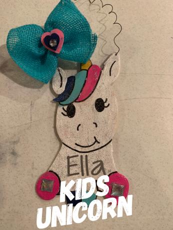 Kids Unicorn $15 Kids Shape