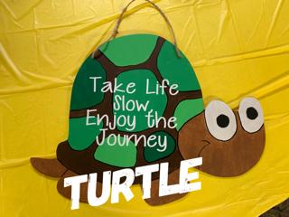 Turtle / Cutie Patootie font / $35 Adult Shape