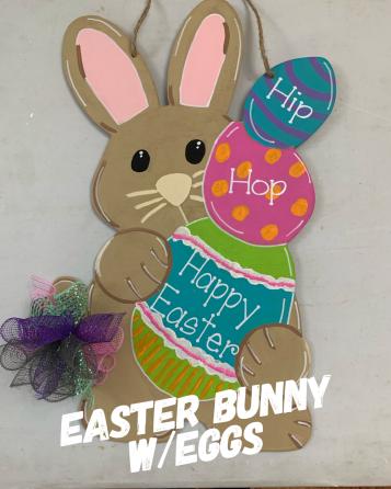 Easter Bunny w/eggs / $35 Adult Shape