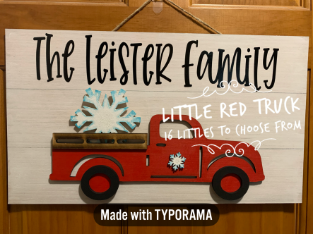 Little Red Truck / Farm House Lemonade Font / $40 Adult shape...pick littles at party