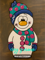 Cozy Snowman / $30 3-D Small Shape
