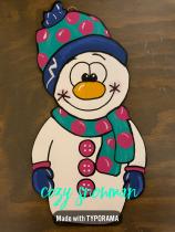 Cozy Snowman / $30 3-D Small Shape
