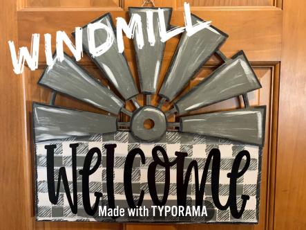 Windmill / $35 Adult Shape / Farmhouse lemonade font